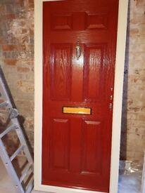 Brand New Red Composite Door