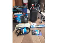 Fluval 406 external filter for fish tank v g c nerdy new with all media pipe and box look pic