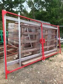 Brand New Red powder coated heras gates