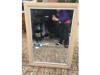 Large beech mirror excellent condition