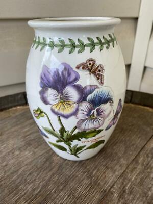 Portmeirion Botanic Garden Vase Viola Hybrida Pansy SHIPS FREE