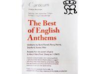 CANTICUM - BEST OF ENGLISH ANTHEMS St. Mary's Church, Woodbridge IP12 4LP