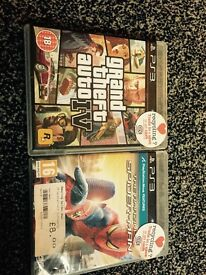 PS3 games spider man grand theft auto