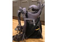 Vaude child carrier with full rain covers