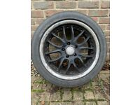 Calibre 18in Load rated Alloys for VW transporter with tyres