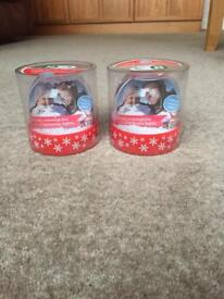 Christmas photo snow globes *new*