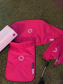Bugaboo hot pink apron hood and umbrella