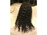 Beautiful deep wavy, lace frontal wig, virgin Brazil hair, totally stunning