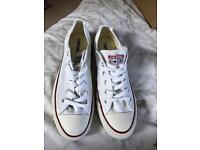 Brand new White Converse Allstars White 7.5