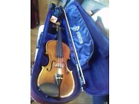 STENTOR VIOLINS ALL SIZES. 1/4, 1/2, 3/4 WITH BOWS ALL IN ORIGINAL CASES AND EXCELLENT CONDITION