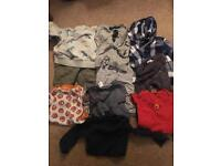 Bundle of baby boy clothes, 9-12 months