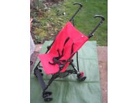 Red Mothercare Push Chair