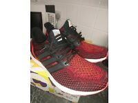 Adidas ultra boost u.k 10.5 solar red