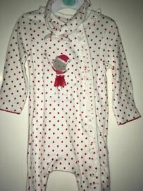 Baby girl 0-3 BNWT Christmas sleepsuit