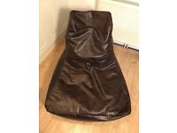 Bean bag - brown faux leather - Next
