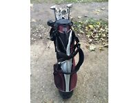 Selection Of Wilson And Callaway Golf Clubs And Wilson Golf Bag