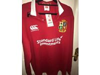 Lions NEW long sleeved rugby shirt