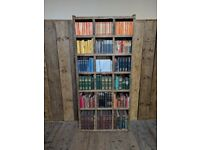 Bookcase pigeon holes standard industrial rustic solid wood shelves 3 col gplanera