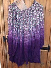 Beautiful dress ( flowers pattern)/ tunic Top Shop size S/M
