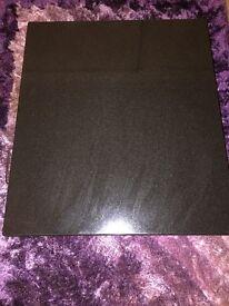 Solid black granite coffee table