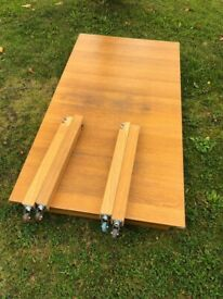 Wooden dining kitchen extendable table
