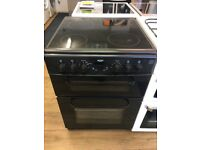 BUSH 60CM CEROMIC TOP ELECTRIC COOKER IN BLACK