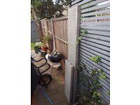 Concrete gravel board for fence