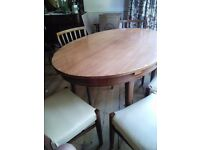 Dining Table, 6 x chairs and sideboard