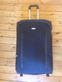 Large Samsonite Suitcase (134 liters, soft case, 77 cm tall, 2 wheels, upright, black)