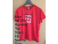 Nike FITDRY Running top new no tags
