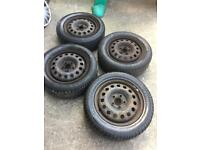 "Steel wheels 16"" with tyres and wheels cover"