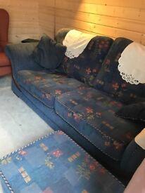 Sofa x 2 plus matching footstool