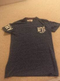 SUPERDRY T SHIRT SIZE SMALL GENUINE WORN TWICE ONLY £5