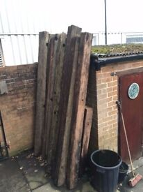 Old English Oak Canal lock gate beams