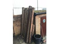 Old English Oak Canal lock gate beams