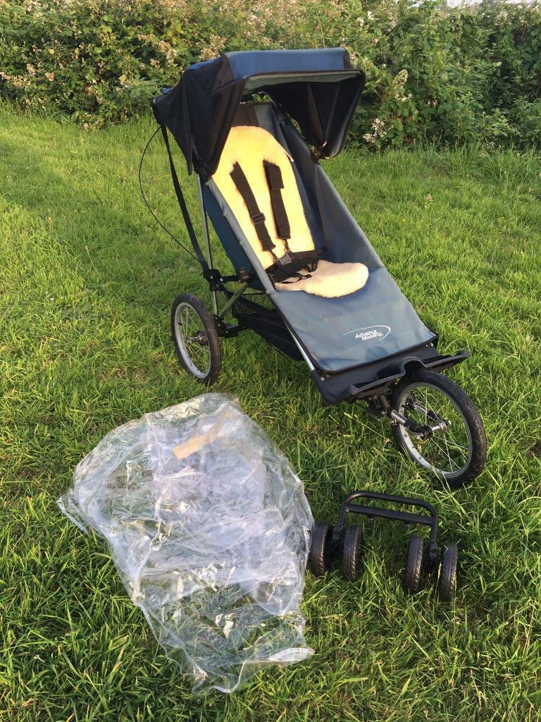 Advance Mobility Joggerin SwanseaGumtree - Great for taking your young disabled people off the beaten track or down the beach. Selling on behalf of a friend who can no longer lift her son in and out and her front door is too narrow to bring it in the house with the wheels on. It comes with...