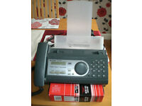 SHARP UX- P400 , FAXES MACHINE, WITH PAPER HOLDER ,WITH ROLLS ROLLEN ROULEAUX
