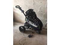 Electric Golf Trolley with bag