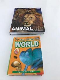2 large Animal Books
