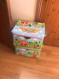 Happyland storage boxes