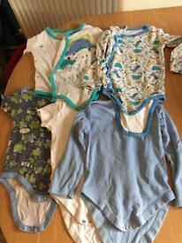 Baby boy vests pyjamas 12-18