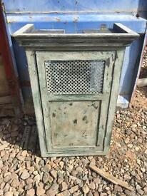 Shabby chic boiler cover cabinet pine wood wall hanging