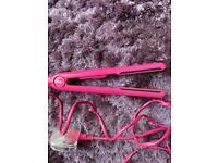 Pink small she very hot hair straightners