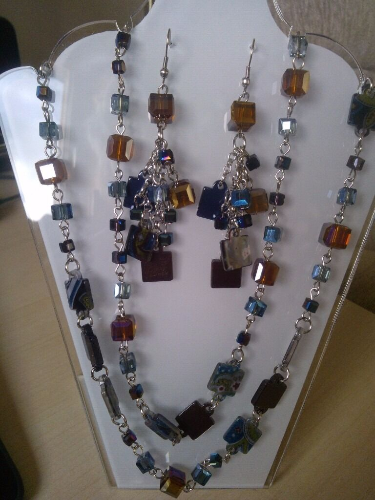 Murano style glass jewellery set PRICE SLASH!!