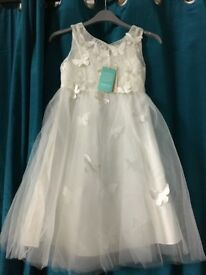 Brand new with tags girls ivory monsoon bridesmaid dress size 8year old