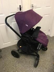 Joie Chrome purple complete travel system