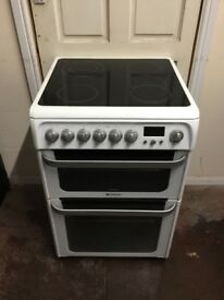 Hotpoint ultima electric cooker HUE62P double oven 3 months warranty free local delivery !!!!