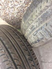 Pair of 215/65/15 tyres