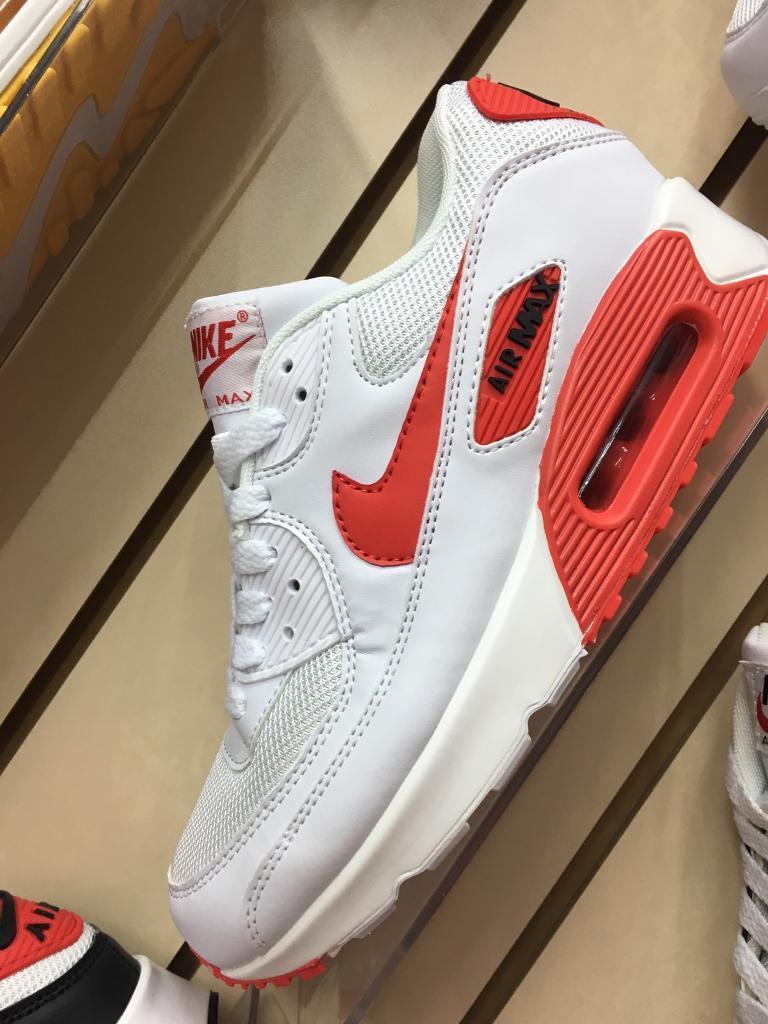 Mens Nike air max 90 wht/red (6-11)