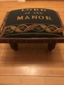 'Lord of the manor' footstool